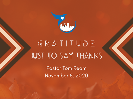 Gratitude: Just To Say Thanks