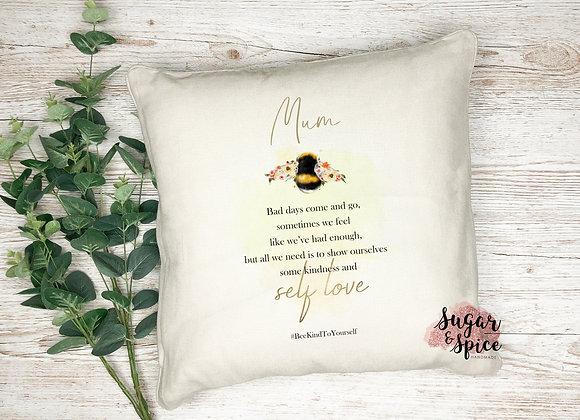 Bee Happy Bumble Bee Cushion