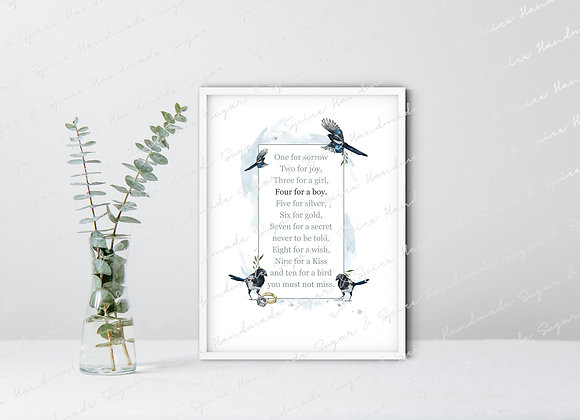 Personalised Baby Girl A4 Print
