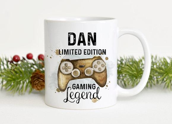 Personalised Gold Gaming Legend Mug