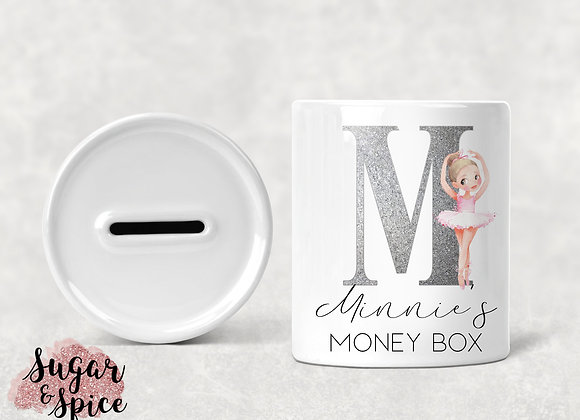 Personalised Ballerina Money Box