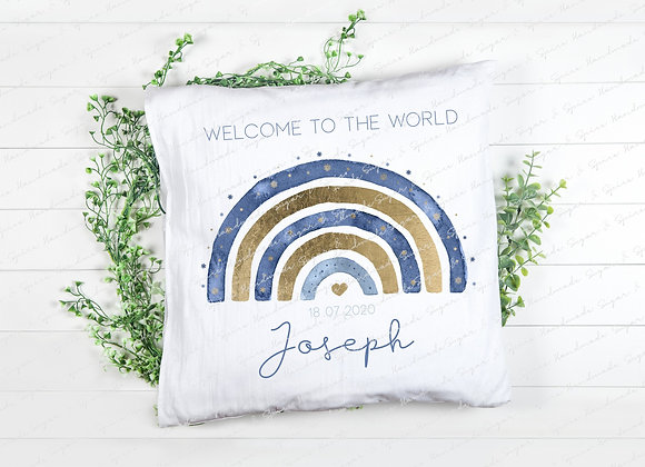 Personalised New Baby Cushion