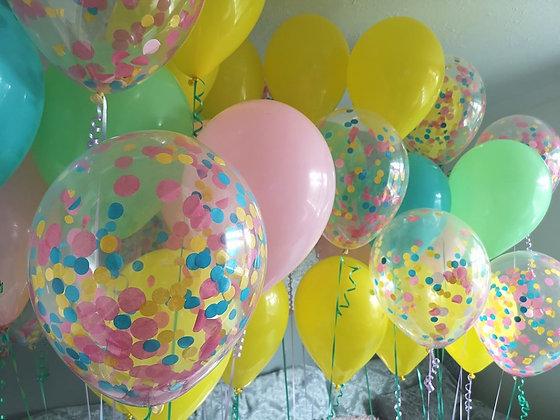 Single latex balloon and groups