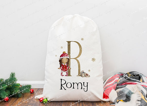 Personalised Elf Christmas Sack