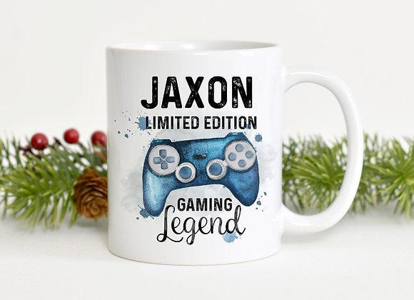 Personalised Blue Gaming Legend Mug