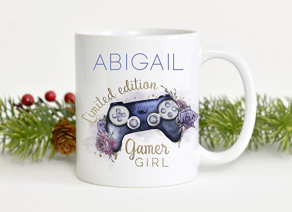 Personalised Girl Gaming Mug