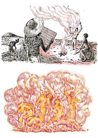 Illustrations - indigo