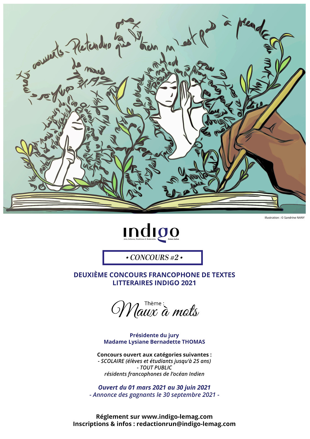 Affiche concours #2 Indigo