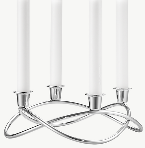 Season Candleholer silver