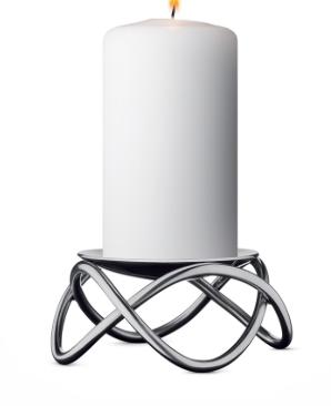 Georg Jensen Glow Candleholder Steel
