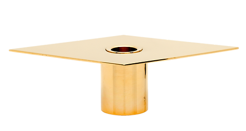 Romb Candle Holder Brass
