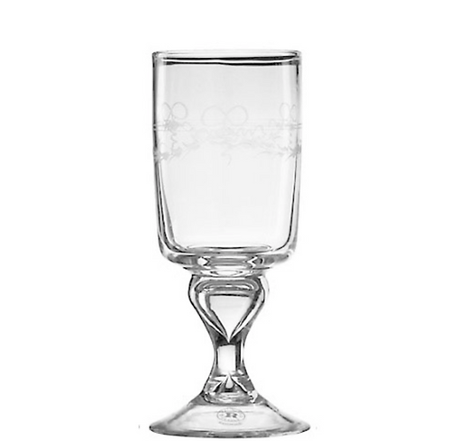 Antique Red Wine Glass