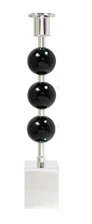 Three Globes Candle Holder Diabase