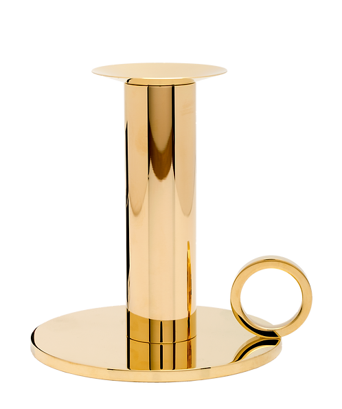 Chamber Candle Holder Brass