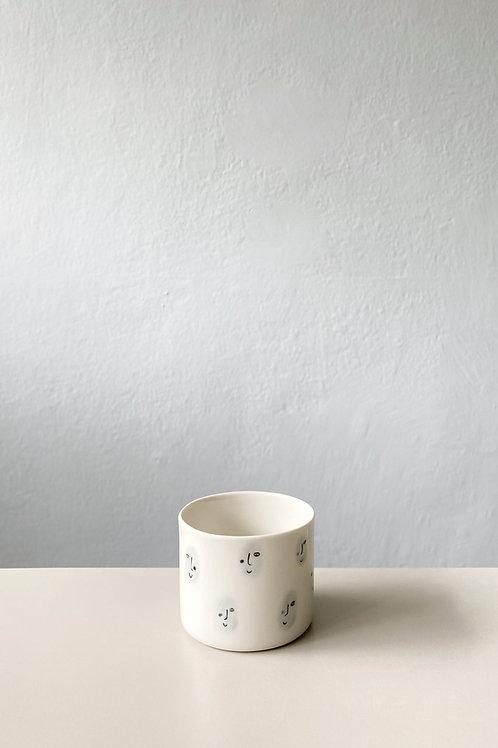 Yüz Desenli Espresso Fincan