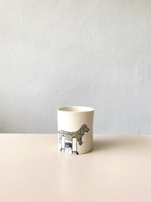 Figürlü Kahve Fincanı - Kulpsuz