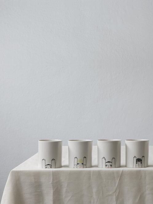 Figürlü Kahve Fincanı