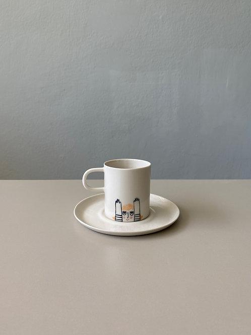 Figürlü Türk Kahve Fincanı