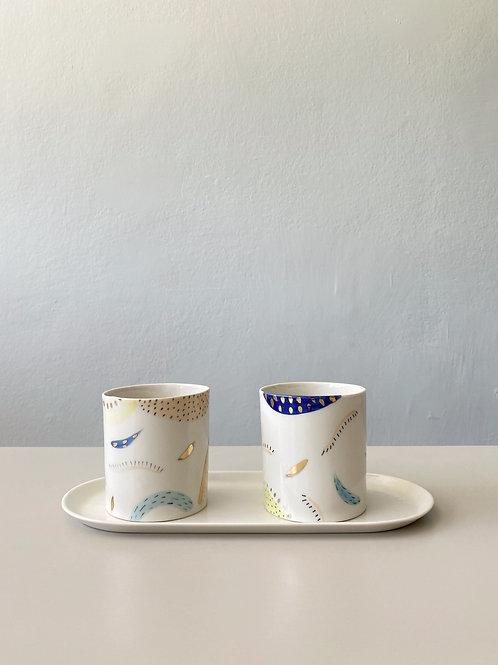 Soyut Kahve Fincanı 2'li Set