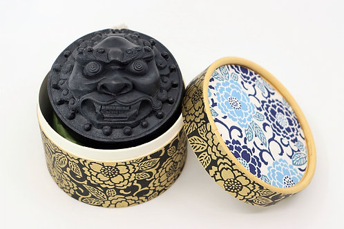 Soap on rope, LION black, organic, vegan, moisturising, limited ed.