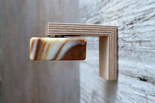 MAGNUS birch plywood - magnetic soap holder, reclaimed timber, easy to fix