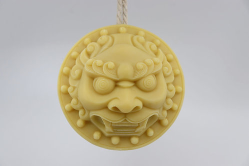 Soap on a rope, LION white, moisturising, unique, organic, vegan