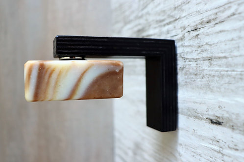 MAGNUS birch black - magnetic soap holder, reclaimed timber, easy to fix