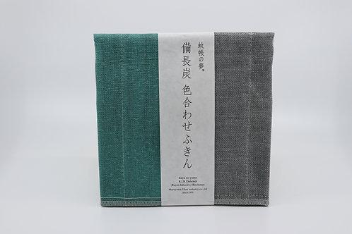 Nawrap Fukin teal/grey, binchotan-infused, 6-layered