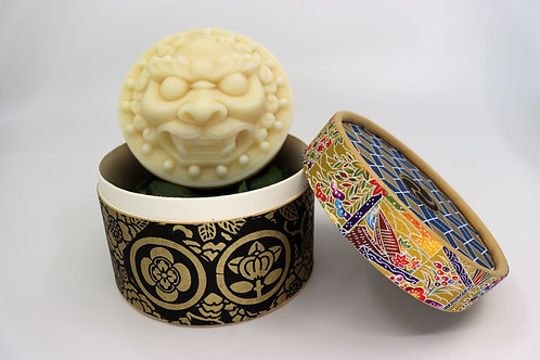 Soap on a rope, LION white, organic, vegan, moisturising, limited chiyogami ed.