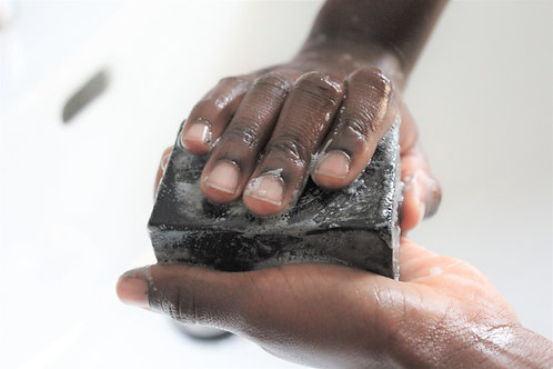 ZEN PURE organic bamboo charcoal face and body soap, no scent, all skin types