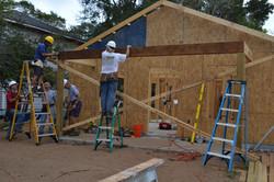 Volunteers working on Home