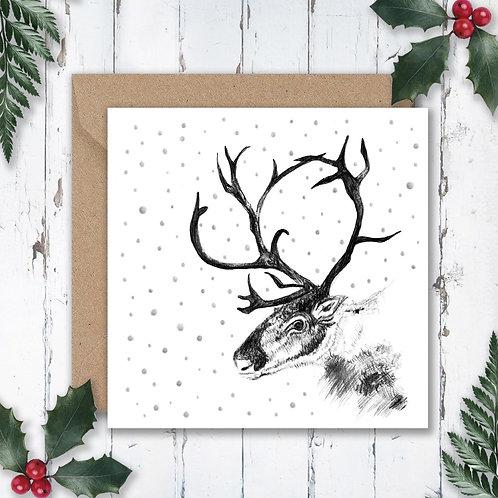 Christmas Reindeer and Snow