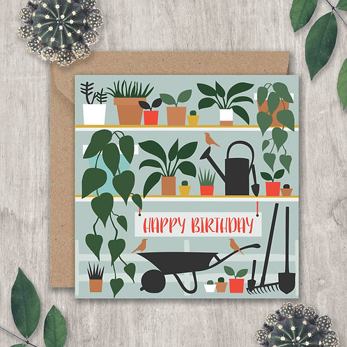 Birthday Wheelbarrow and Plants