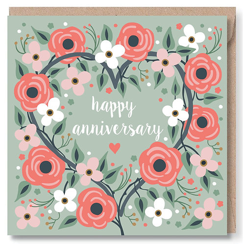 Anniversary Heart and Flowers