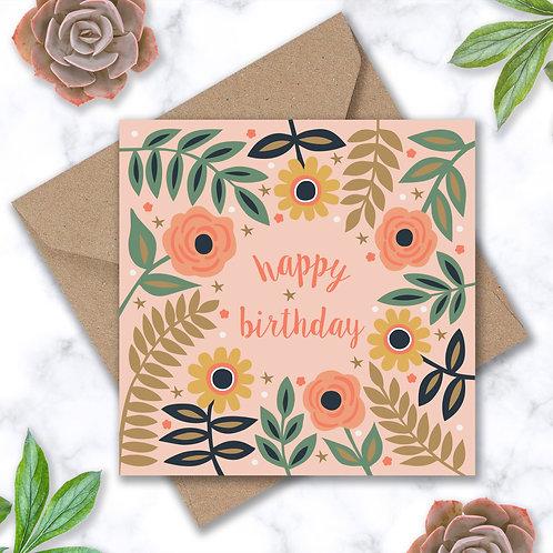Birthday Roses and Stars