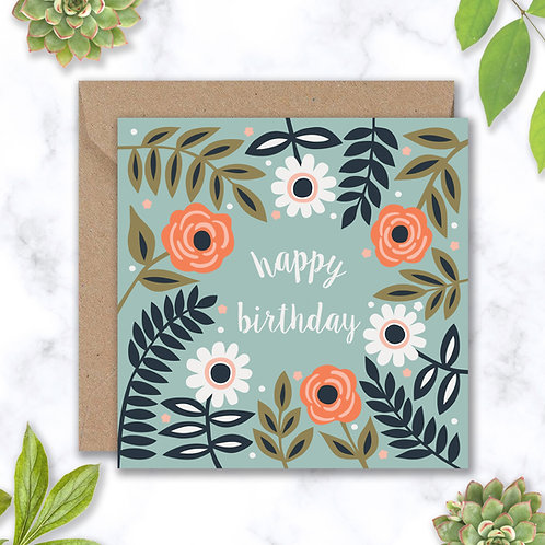 Birthday Roses and Leaves