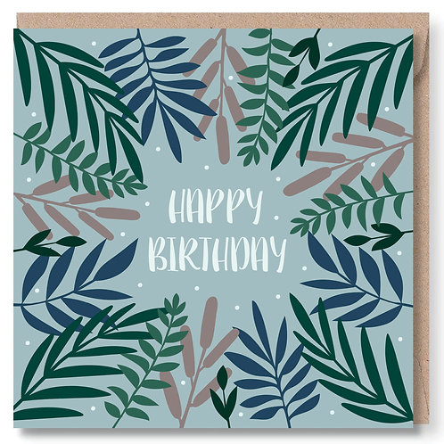 Birthday Leaves and Dots