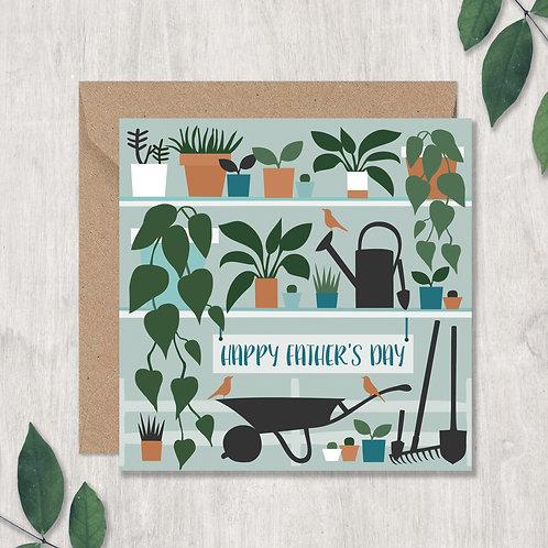 Father's Day Wheelbarrow and Plants Card
