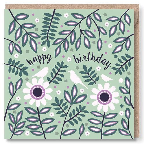 Birthday Birds and Daisies