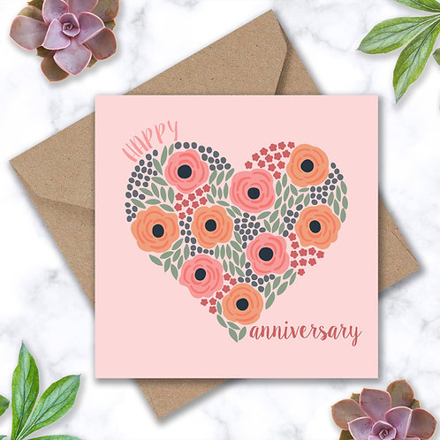 Anniversary Heart and Roses