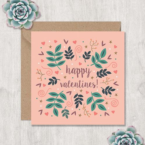 Happy Valentines Swirls and Hearts