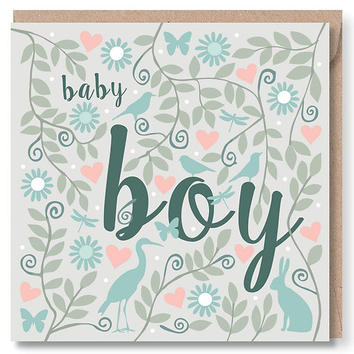 Baby Boy Animals and Leaves