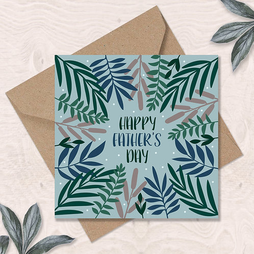 Father's Day Leaves and Dots Card