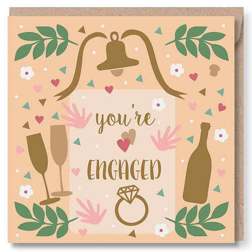 Engagement Confetti and Bubbly
