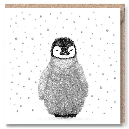 Christmas Penguin and Snow