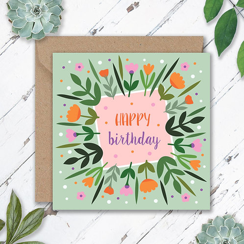 Birthday Leaves and Flowers