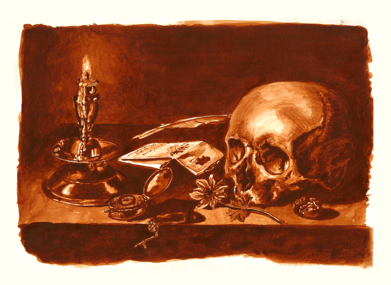 Memento Mori, Watercolor Painting