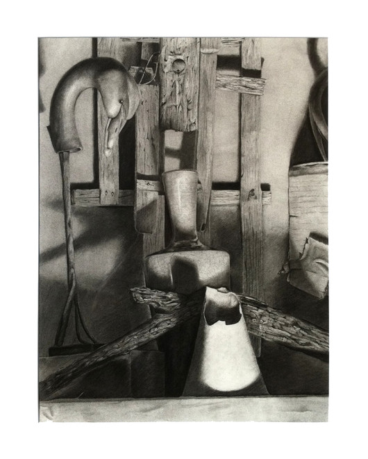 Charcoal Drawing, Still Life