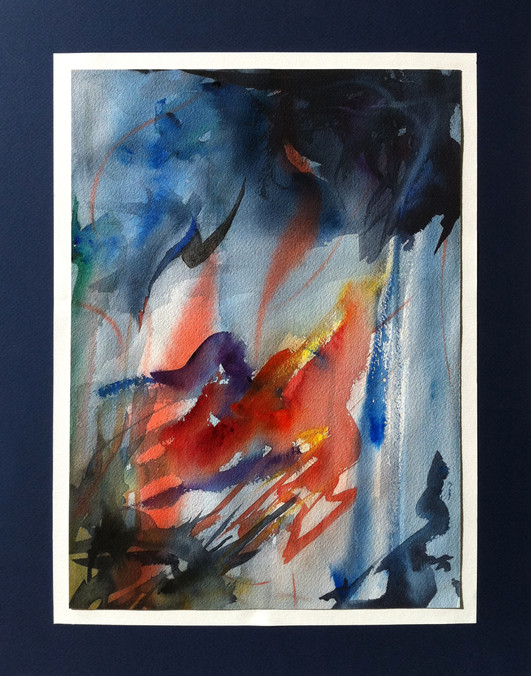 Watercolor Painting, Chopin Etude Op.10 No.3 Tristess
