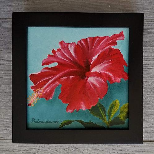 Crimson Showgirl Framed Original Oil Painting